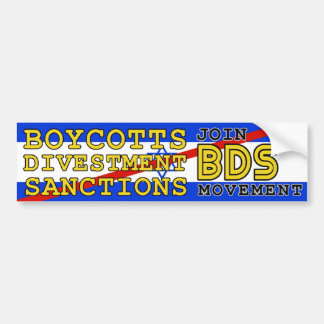 Join BDS movement boycott Israel Bumper Stickers