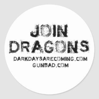 Join Dragons Classic Round Sticker