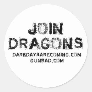 Join Dragons Round Sticker