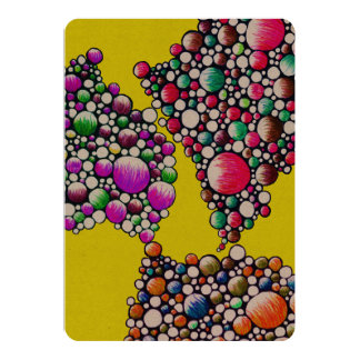Join - invitation card with colorful bubble art