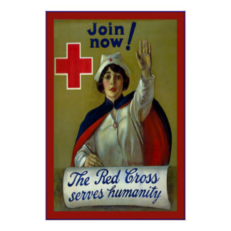 Join Now!~Vintage Nurse Poster