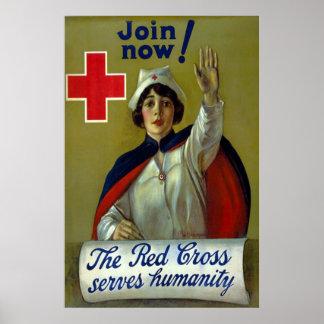 Join Now! ~ Vintage WW1 Nurse Poster