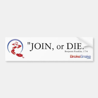 join or die bumper sticker