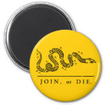 Join or Die - Libertarian 6 Cm Round Magnet