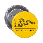 Join or Die - Libertarian Badge