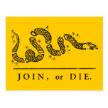 Join or Die - Libertarian Post Card