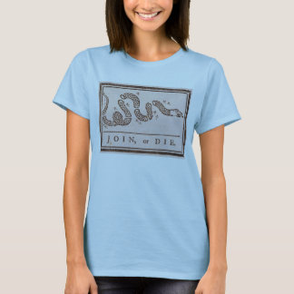 Join or Die ORIGINAL Benjamin Franklin Cartoon T-Shirt