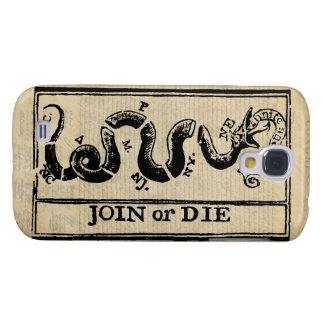 Join Or Die Woodcut on Declaration of Independence Galaxy S4 Case