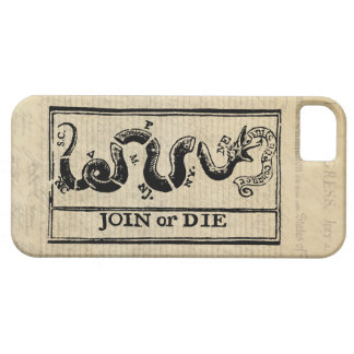 Join Or Die Woodcut on Declaration of Independence iPhone 5 Covers