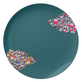 Join - plate with colorful & simple bubble design
