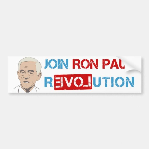 Join Ron Paul revolution Bumper Stickers
