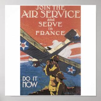 """Join the Air Service"" circa 1917 Poster"