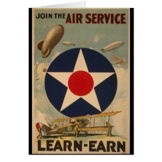 Join The Air Service Greeting Card