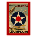 "Join The Air Service ""Learn-Earn"" (Red Border)"
