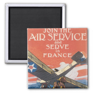 Join the Air Service Square Magnet