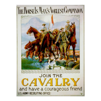 Join the Cavalry 1920 Poster