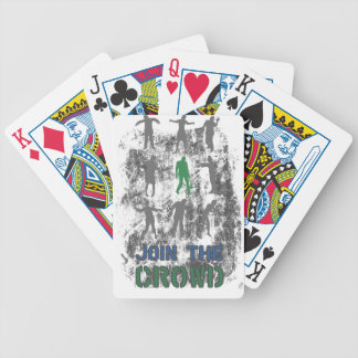 Join The Crowd Zombie Dead Skull Bicycle Playing Cards