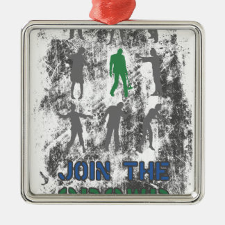 Join The Crowd Zombie Dead Skull Christmas Ornament