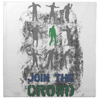 Join The Crowd Zombie Dead Skull Napkin