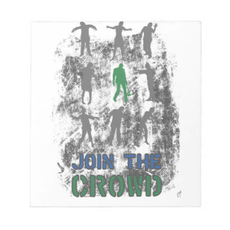 Join The Crowd Zombie Dead Skull Notepad