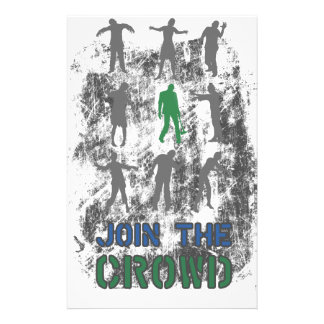 Join The Crowd Zombie Dead Skull Stationery