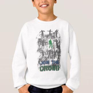 Join The Crowd Zombie Dead Skull Sweatshirt
