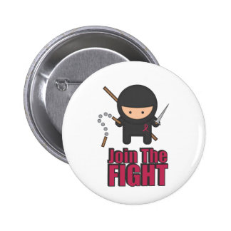 Join The Fight Against Breast Cancer 6 Cm Round Badge