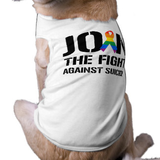 Join the fight against gay suicide sleeveless dog shirt