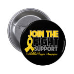 Join The Fight Support Childhood Cancer Awareness Buttons