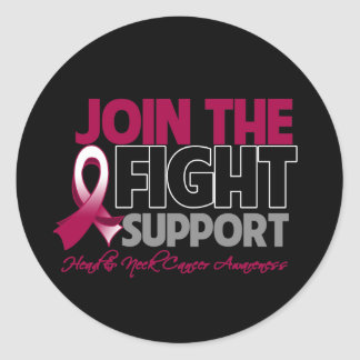 Join The Fight Support Head Neck Cancer Awareness Round Sticker