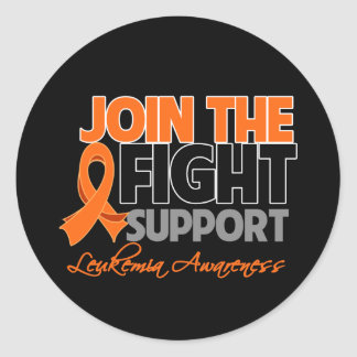 Join The Fight Support Leukemia Awareness Stickers