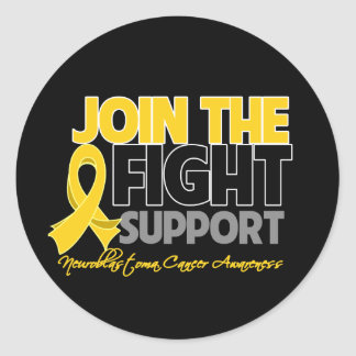 Join The Fight Support Neuroblastoma Awareness Round Sticker