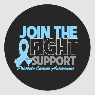 Join The Fight Support Prostate Cancer Awareness Round Sticker