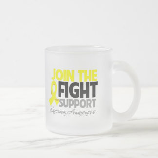 Join The Fight Support Sarcoma Awareness Frosted Glass Mug