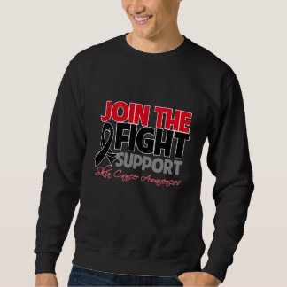 Join The Fight Support Skin Cancer Awareness Pullover Sweatshirts