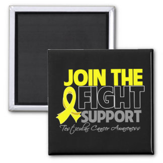 Join The Fight Support Testicular Cancer Awareness Square Magnet