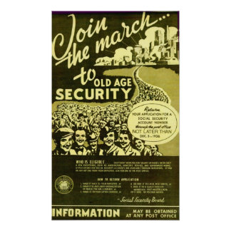 Join The March To Old Age Security Poster