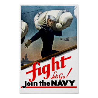 Join The Navy -- WW2 Poster