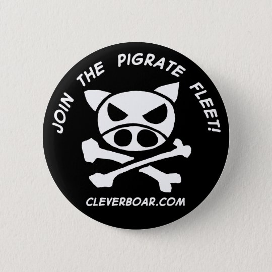 Join the Pigrates 6 Cm Round Badge
