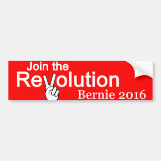Join The Revolution Bernie 2016 Bumper Sticker