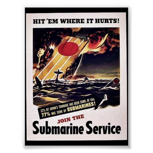 Join The Submarine Service Posters