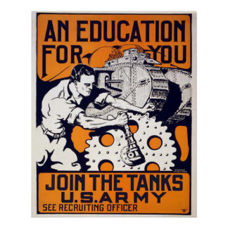 Join the Tanks - US Army Poster