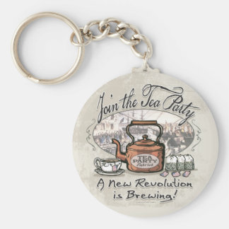 Join the Tea Party Tea Shirts and Gifts Key Ring