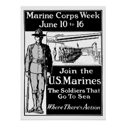 Join The US Marines Posters