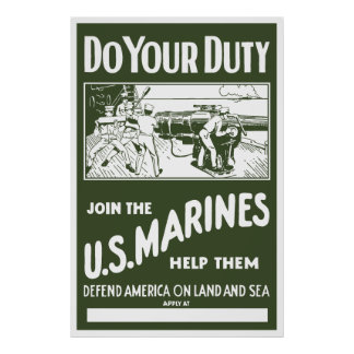 Join The US Marines -- WW2 Print