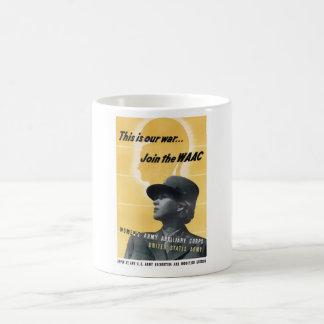 Join The WAAC -- WW2 Basic White Mug