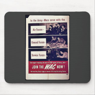 Join The Wac Now Mouse Pad