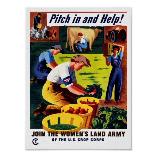 Join The Women's Land Army -- WWII Poster