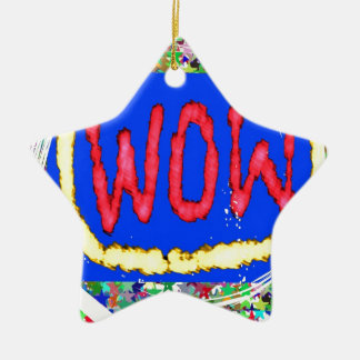 Join the WOW factor party:  Gift one to self Ceramic Star Decoration
