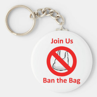 Join Us, Ban the bag around the World Basic Round Button Key Ring